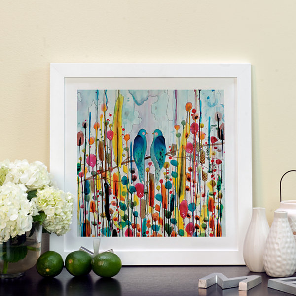 We by Sylvie Demers White Framed Fine Art Paper Print