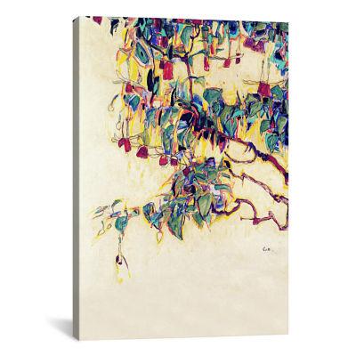 Sun Tree by Egon Schiele Canvas Print