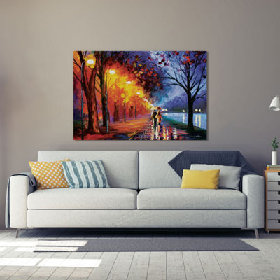 Alley By The Lake I by Leonid Afremov Canvas Print