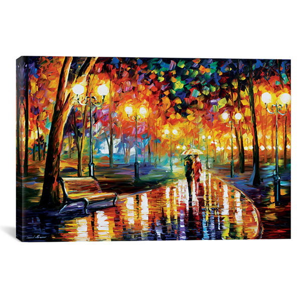 Rain's Rustle I by Leonid Afremov Canvas Print