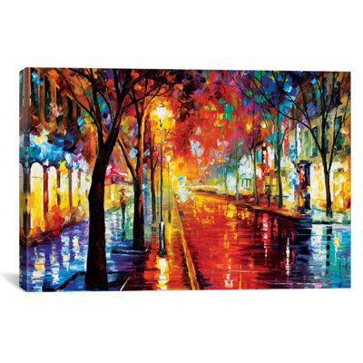 Street Of The Old Town by Leonid Afremov Canvas Print