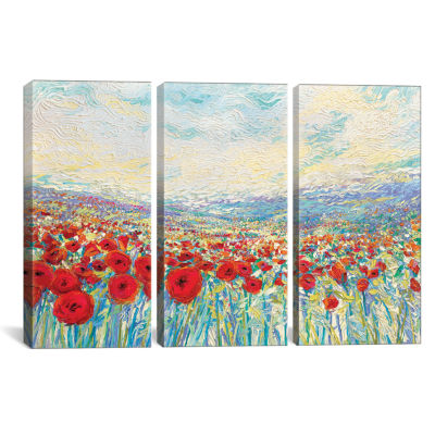 Poppies Of Oz by Iris Scott Canvas Print