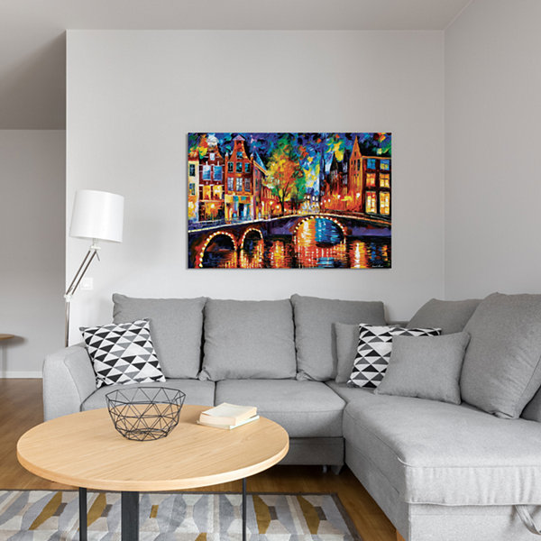 The Bridges Of Amsterdam by Leonid Afremov CanvasPrint