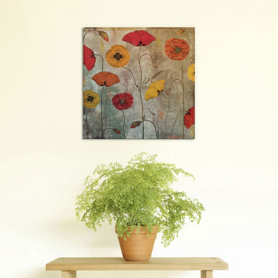 Dancing Poppies by Color Bakery Canvas Print