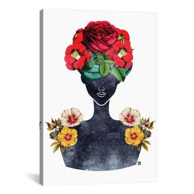 Flower Crown Silhouette III by Tabitha Brown Canvas Print