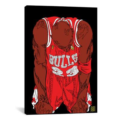 Michael Jordan (The Flu Game) by TECHNODROME1 Canvas Print