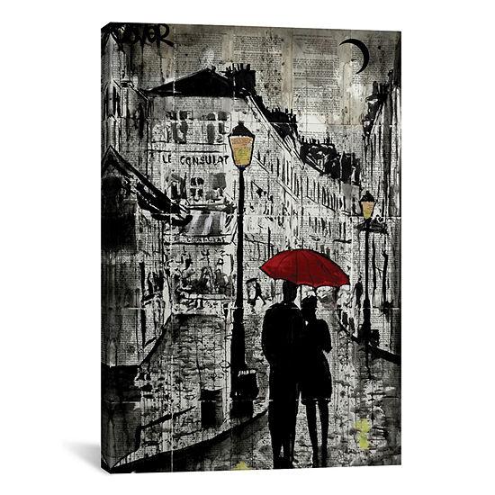 Rainy Promenade by Loui Jover Canvas Print