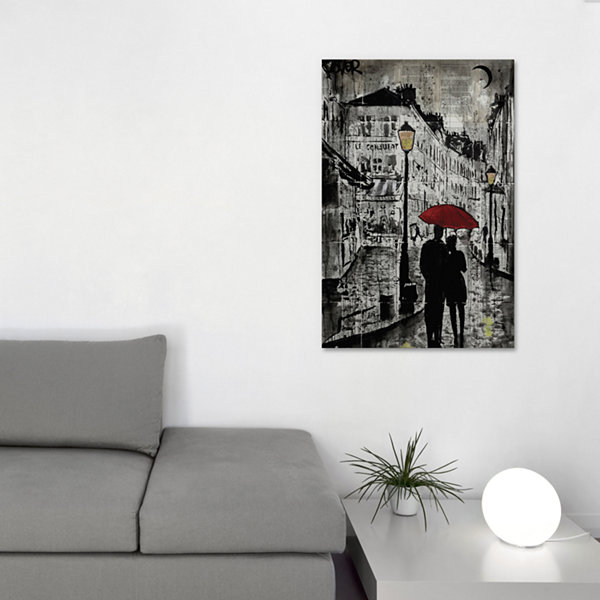 Rainy Promenade by Loui Jover Canvas Print