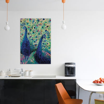 Gemini Peacock by Iris Scott Canvas Print