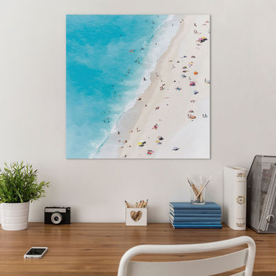 Aerial View Of Myrtos Beach V; Cephalonia; IonianIslands; Greece by Matteo Colombo Canvas Print
