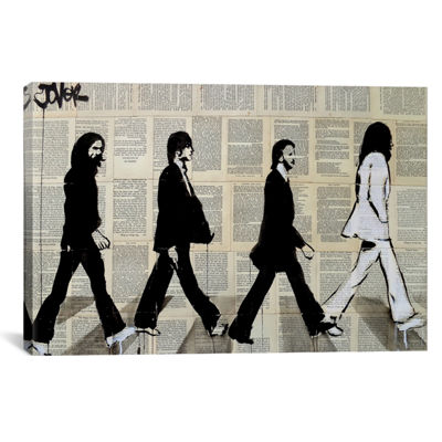 The Crossing Of Abbey Road by Loui Jover Canvas Print