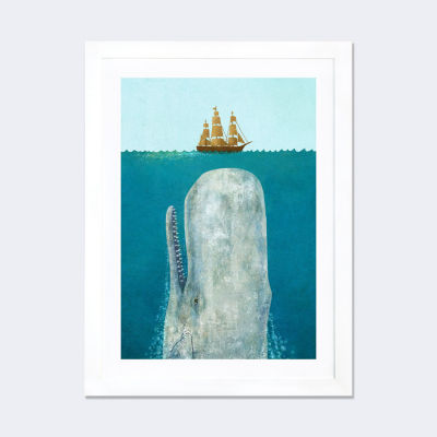 The Whale by Terry Fan White Framed Fine Art PaperPrint
