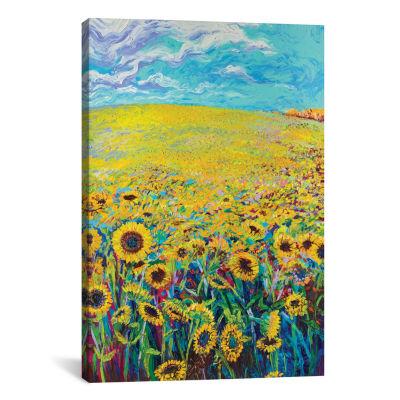 Sunflower Triptych Panel I by Iris Scott Canvas Print