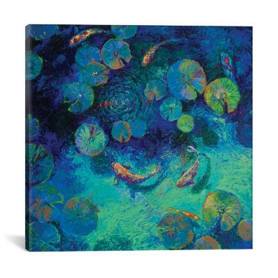 Taiwanese Blue by Iris Scott Canvas Print