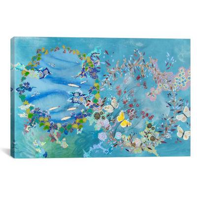 Agua y aire by Lia Porto Canvas Print