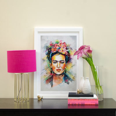 Frida Kahlo by Tracie Andrews White Framed Fine Art Paper Print