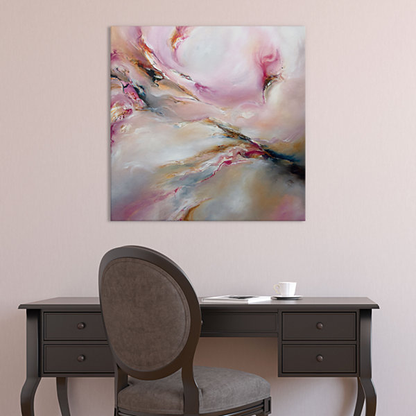 Pink Haze by J.A Art Canvas Print