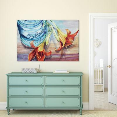 Ball Jar Flower I by Jennifer Redstreake Canvas Print