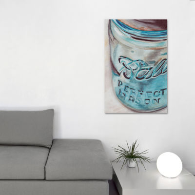 Mason Jar I by Jennifer Redstreake Canvas Print