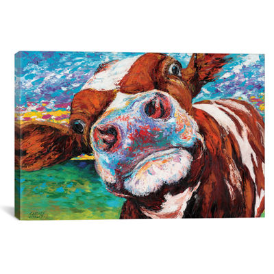 Curious Cow I by Carolee Vitaletti Canvas Print