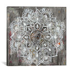 Mandala in Neutral II by Danhui Nai Canvas Print