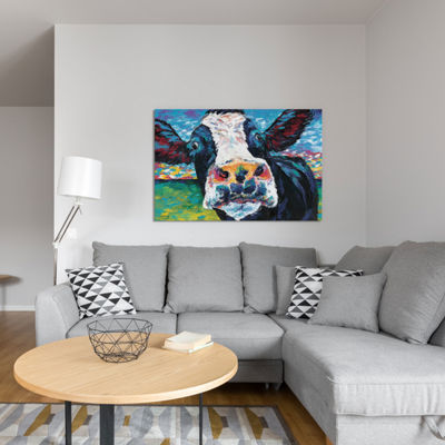 Curious Cow II by Carolee Vitaletti Canvas Print