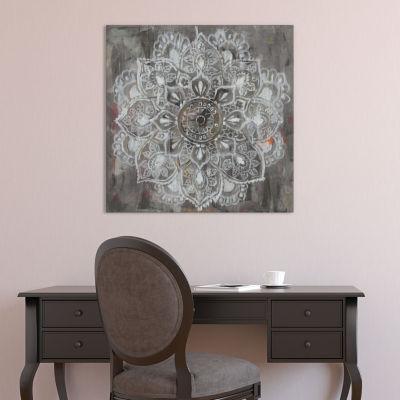 Mandala in Neutral II by Danhui Nai Canvas Print