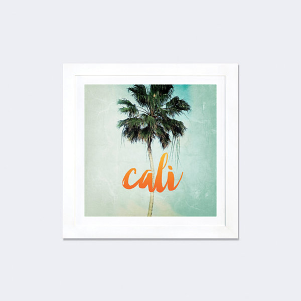 California by Chelsea Victoria White Framed Fine Art Paper Print