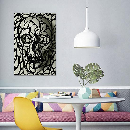 Skull #4 by Ali Gulec Canvas Print