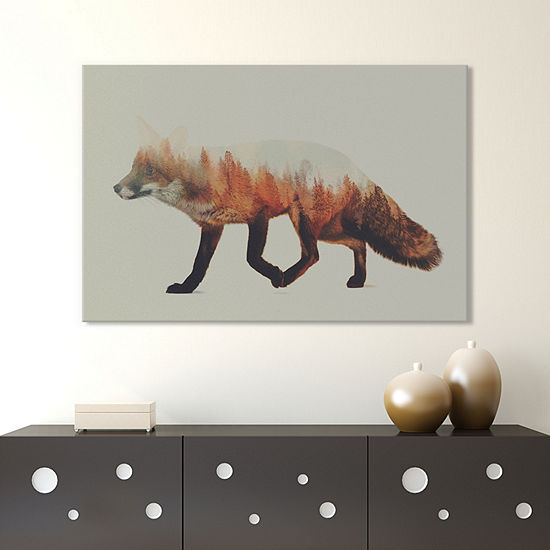 Fox I by Andreas Lie Canvas Print