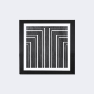 Mid Century Modern Art- Geometric Pattern 90 by 5by5collective Black Framed Fine Art Paper Print