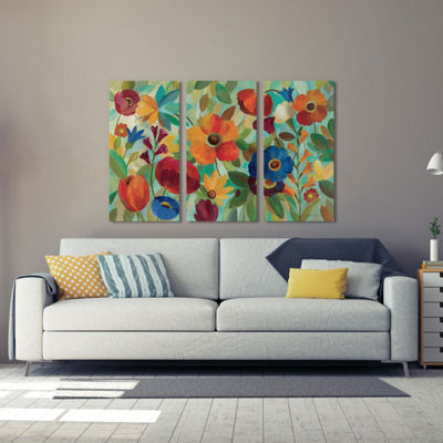 Summer Floral V  by Silvia Vassileva Canvas Print