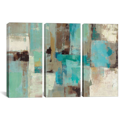 Teal and Aqua Reflections #2 by Silvia Vassileva Canvas Print