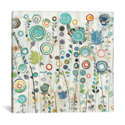 Ocean Garden I Square by Candra Boggs Canvas Print