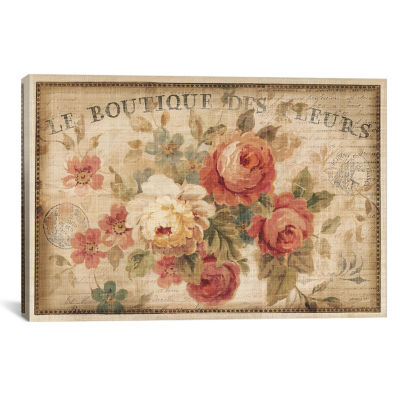 Parisian Flowers III by Danhui Nai Canvas Print