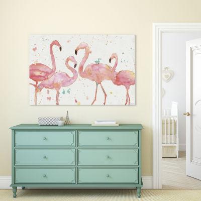 Flamingo Fever I by Anne Tavoletti Canvas Print