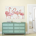 Flamingo Fever I by Anne Tavoletti Canvas Print