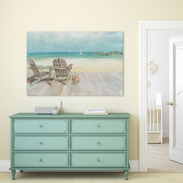 Seaside Morning No Window by Danhui Nai Canvas Print