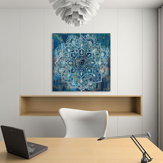 Mandala in Blue II by Danhui Nai Canvas Print