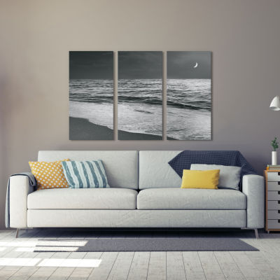 Moonrise Beach by Sue Schlabach Canvas Print