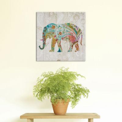 Boho Paisley Elephant II by Danhui Nai Canvas Print