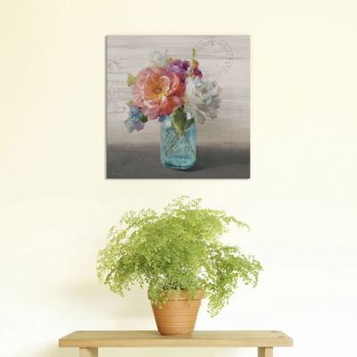 French Cottage Bouquet I by Danhui Nai Canvas Print