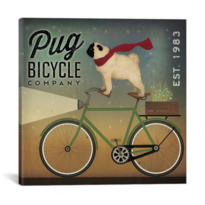 Pug Bicycle Co. by Ryan Fowler Canvas Print