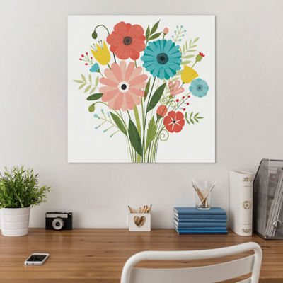 Seaside Bouquet II by Michael Mullan Canvas Print