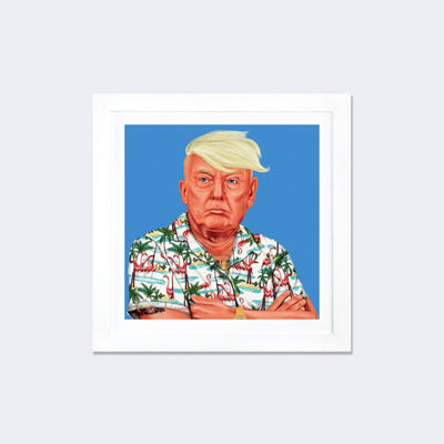 Donald Trump by Amit Shimoni White Framed Fine ArtPaper Print