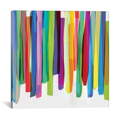 Colorful Stripes II by Mareike Böhmer Canvas Print