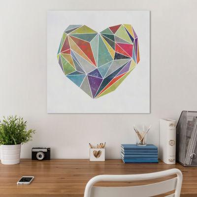 Heart Graphic V by Mareike Böhmer Canvas Print