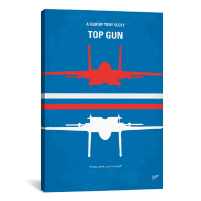 Top Gun Minimal Movie Poster by Chungkong Canvas Print