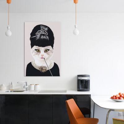 Audrey Hepburn Cat by Coco de Paris Canvas Print