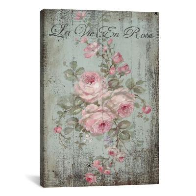 La Vie En Rose by Debi Coules Canvas Print